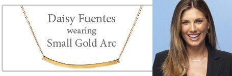 Daisy Fuentes wearing the Adina small arc necklace