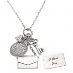 Amour and Purse Charm Necklace