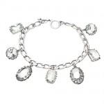 Clear Swarovski Crystal Charms Bracelet