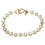 Clear Swarovski Crystal Stone Bracelet - Gold Plated