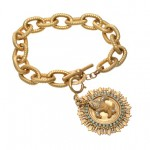 Fleur De Lis Toggle Bracelet