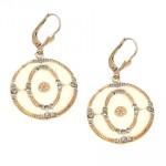 Enamel Medallion Swarovski Crystal Earrings