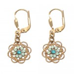 Pacific Opal Swarovski Crystal Flower Earrings