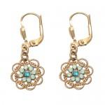 Pacific Opal Swarovski Crystal Flower Earrings