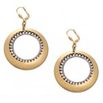 Swarovski  Crystal Circle and Disc  Earrings