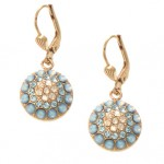 Star Blue  Swarovski Crystal Circle Earrings