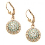 Pacific  Opal Color Combination Swarovski Crystal Circle Earrings