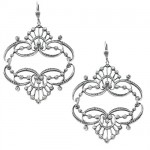 Mirrored Tiara Swarovski Crystal Earrings