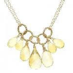 Citrine Briolette Drop Necklace