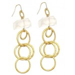 Rock Crystal Link Earrings