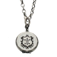 Catherine Popesco Fleur De Lis Locket Necklace - 818-popseco - Handmade Celebrity Fashion Jewelry :  fleur de lis locket necklace handmade catherine popesco handmade designer jewelry at blueluxe