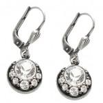 Clear Swarovski Crystal Drop Earrings