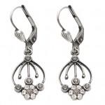 Hanging Flower Swarovski Crystal Earrings