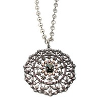 Catherine Popesco Filigree Medallion Crystal Necklace - 925-popseco - Handmade Celebrity Fashion Jewelry :  filigree medallion crystal necklace handmade catherine popesco handmade designer jewelry at blueluxe