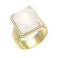 Sheila Fajl Faceted White Onyx Rectangle Ring - AN30284-sheila :  fashion sheila fajl handmade onyx