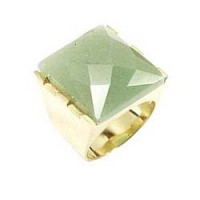 Sheila Fajl Faceted Green Jade Square Cocktail Ring :  sheila fajl cocktail green faceted