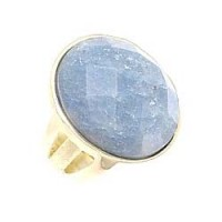 Sheila Fajl Faceted Blue Jade Oval Cocktail Ring :  fashion sheila fajl oval cocktail
