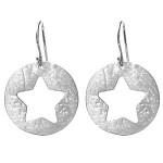 Mini Star Cut Out Sterling Silver Earrings