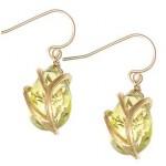 Faceted Lemon Topaz Vine Wrap Earrings