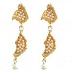 Pearl Seed Pod Dangle Earrings