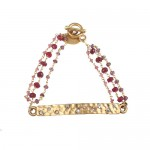 Indulgems Garnet, Tourmaline, and Ruby Three Strand Bracelet - F09B05-indulgems - Handmade Celebrity Fashion Jewelry :  indulgems garnet tourmaline handmade