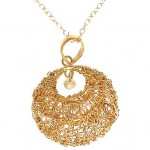 Basket and Pearl Pendant Necklace