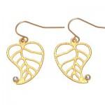 Covent Garden Iolite Mini Leaf Earrings