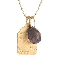 Page Sargisson Malika Tiny Tag Iolite Pendant Necklace - Handmade Celebrity Jewelry - NG-MtinytagIolite-sargisson