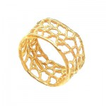 Wide Coral Band Ring