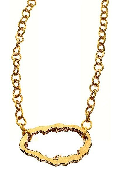 Gold Geode Necklace
